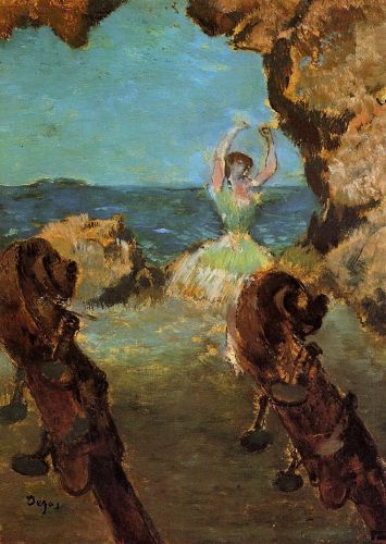 Dancer on Stage by Edgar Degas