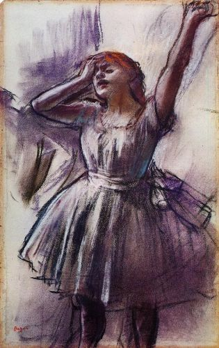 Dancer with Left Arm Raised, 1887 by Edgar Degas