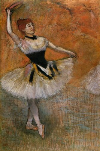 Dancer with Tambourine, 1882 by Edgar Degas