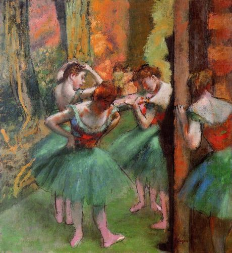 Dancers, Pink and Green, 1890 by Edgar Degas