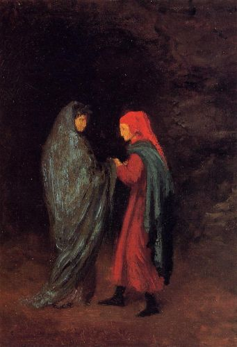 Dante and Virgil at the Entrance to Hell by Edgar Degas