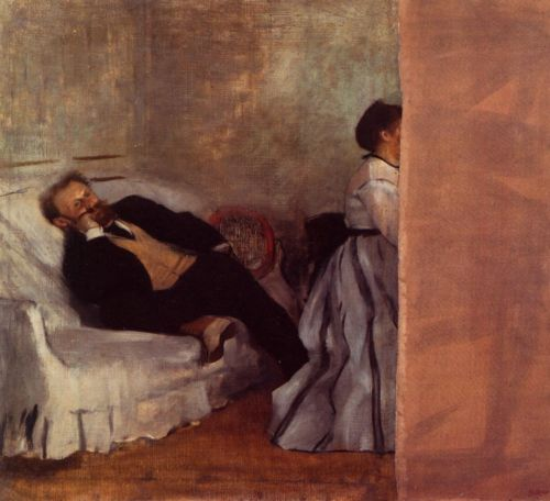 Edouard Manet and Madame by Edgar Degas