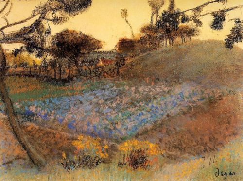 Field of Flax, 1891-1892 by Edgar Degas