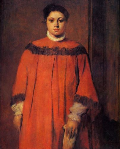 Girl in Red, 1873-1876 by Edgar Degas