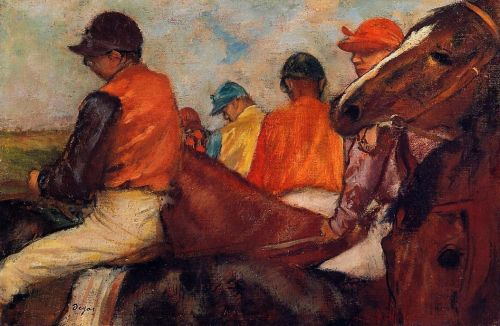 Jockeys, 1882 by Edgar Degas