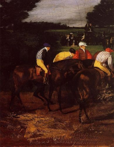 Jockeys at Epsom, 1861-1862 by Edgar Degas