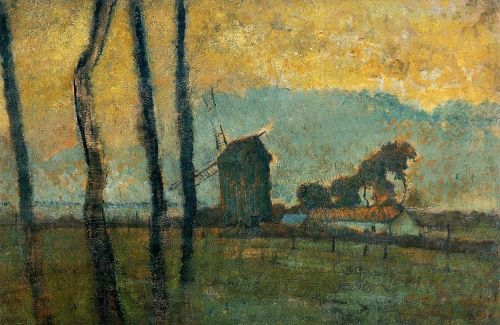 Landscape at Valery-sur-Somme by Edgar Degas
