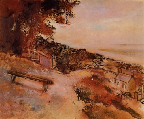 Landscape by the Sea, 1895-1898 by Edgar Degas