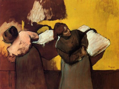 Laundress Carrying Linen, 1876-1878 by Edgar Degas