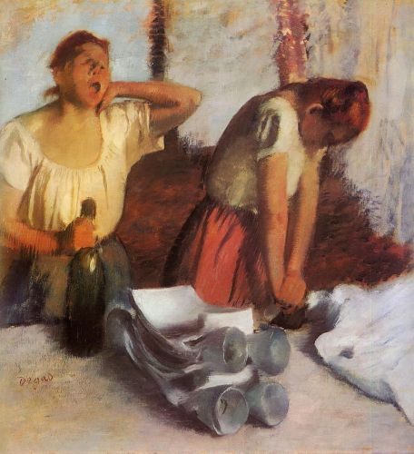 Laundry Girls Ironing, 1884 by Edgar Degas