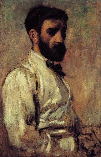 Leon Bonnat, 1863 by Edgar Degas