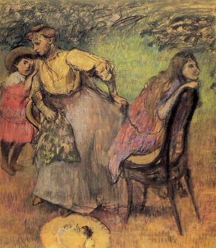 Madame Alexis Rouart and Her Children, 1905 by Edgar Degas