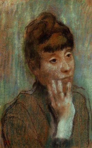 Portrait of a Woman Wearing a Green Blouse, 1884 by Edgar Degas