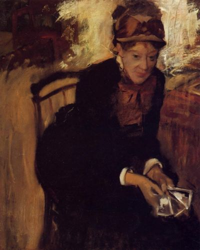 Portrait of Mary Cassatt by Edgar Degas