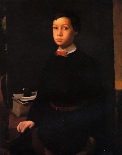 Portrait of Rene De Gas, The Artist Brother by Edgar Degas