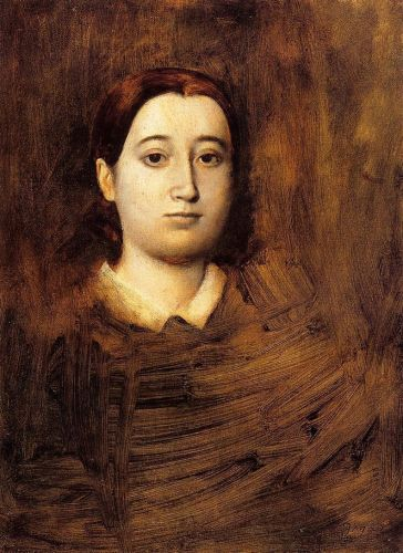 Portrait of Therese De Gas, The Artist Sister by Edgar Degas