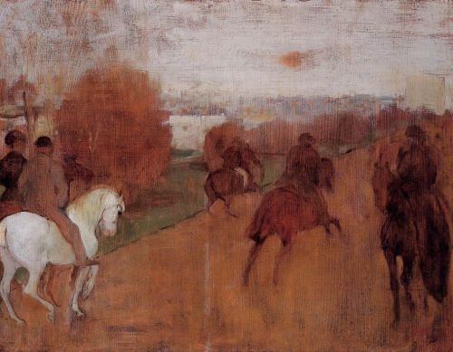Riders on a Road by Edgar Degas