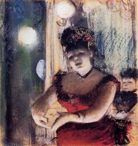 Singer in a Cafe-Concert by Edgar Degas