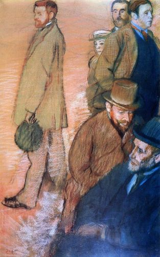 Six Friends of the Artist by Edgar Degas