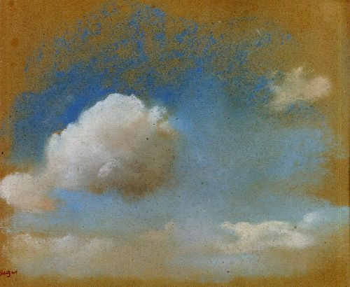 Sky Study by Edgar Degas