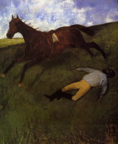 The Fallen Jockey by Edgar Degas