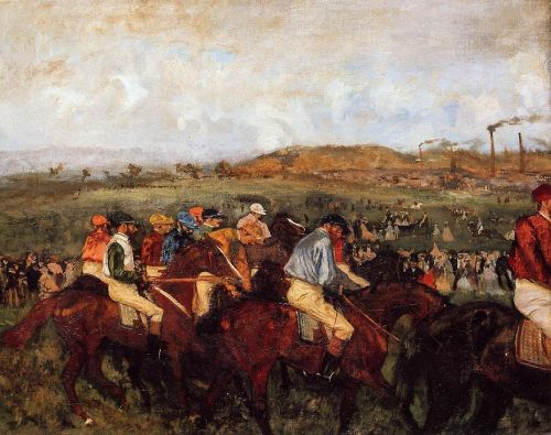 The Gentlemen's Race - Before the Start by Edgar Degas