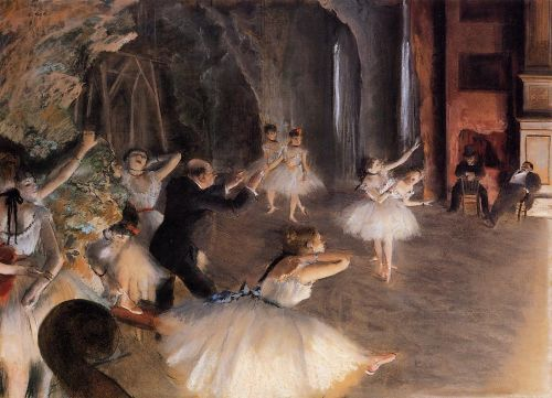 The Rehearsal of the Ballet on Stage, 1874 by Edgar Degas