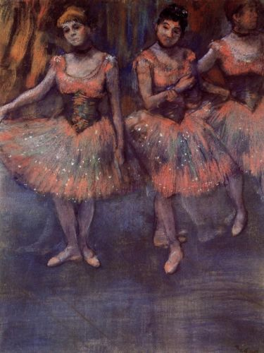 Three Dancers before Exercise by Edgar Degas