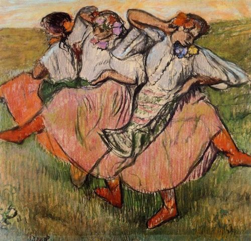 Three Russian Dancers, 1895 by Edgar Degas