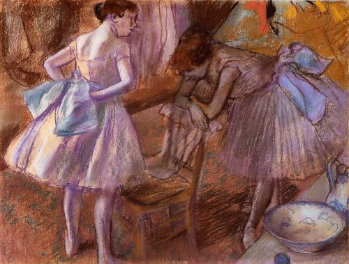 Two Dancers in Their Dressing Room, 1880 by Edgar Degas