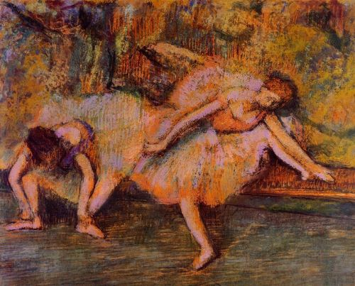 Two Dancers on a Bench, 1900-1905 by Edgar Degas
