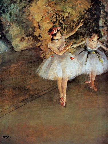 Two Dancers on Stage, 1874 by Edgar Degas