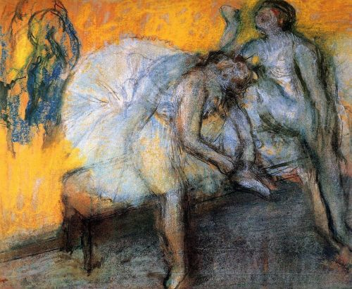 Two Dancers Resting, 1910 by Edgar Degas