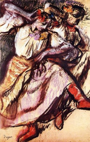 Two Russian Dancers, 1895 by Edgar Degas