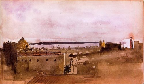 View of Naples, 1860 by Edgar Degas