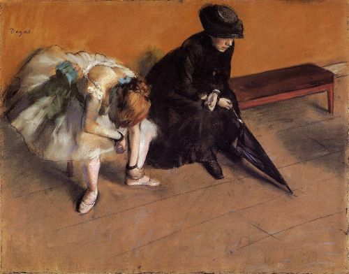 Waiting, 1882 by Edgar Degas