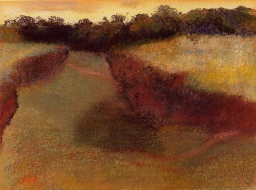 Wheatfield and Line of Trees, 1890-1893 by Edgar Degas