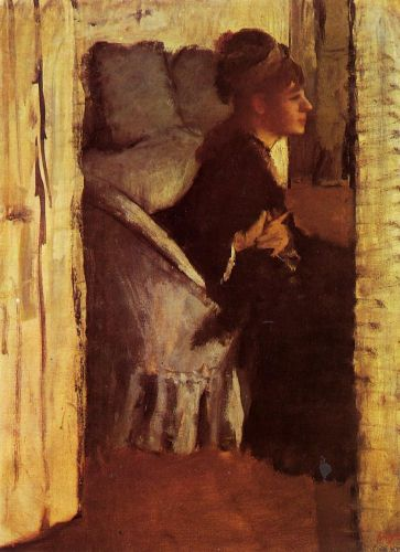 Woman Putting on Her Gloves, 1877 by Edgar Degas