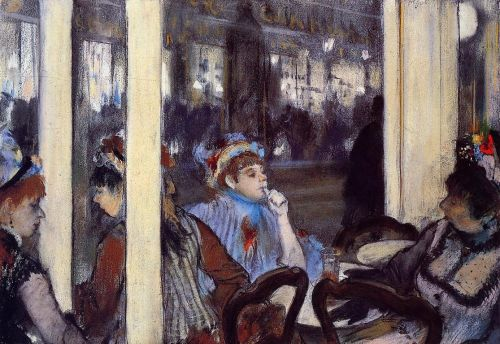 Women on a Cafe Terrace in the Evening, 1877 by Edgar Degas