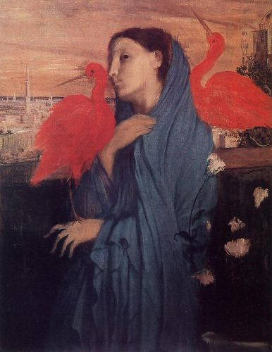 Young Woman and Ibis, 1860-1862 by Edgar Degas