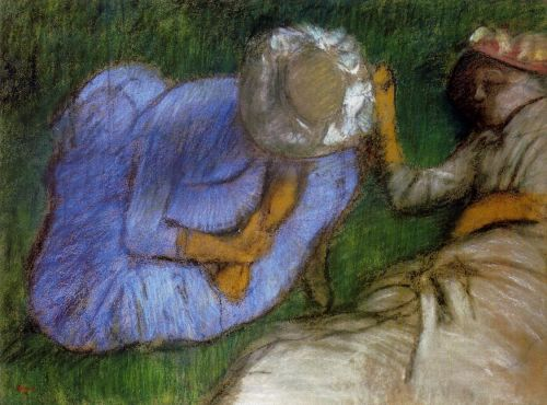 Young Women Resting in a Field, 1882 by Edgar Degas