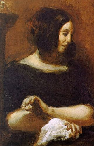 Portrait of George Sand by Eugène Delacroix
