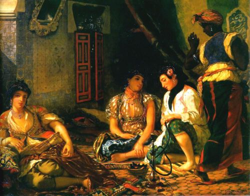 Women of Algiers in their Apartment by Eugène Delacroix