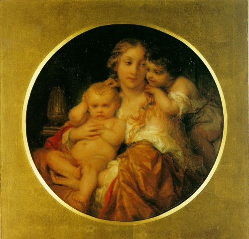 Mother and Child by Hippolyte Paul Delaroche