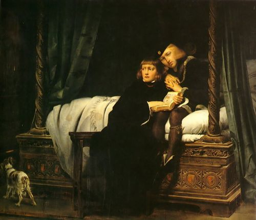 The children of King Edward imprisoned in the Tower by Hippolyte Paul Delaroche