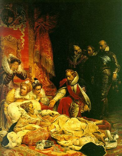 The Death of Elizabeth by Hippolyte Paul Delaroche