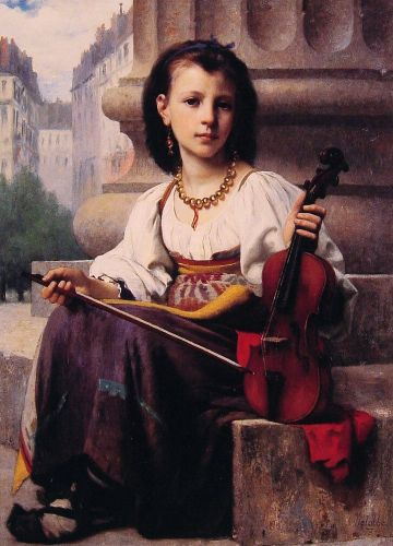 The Young Musician by François Alfred Delobbe