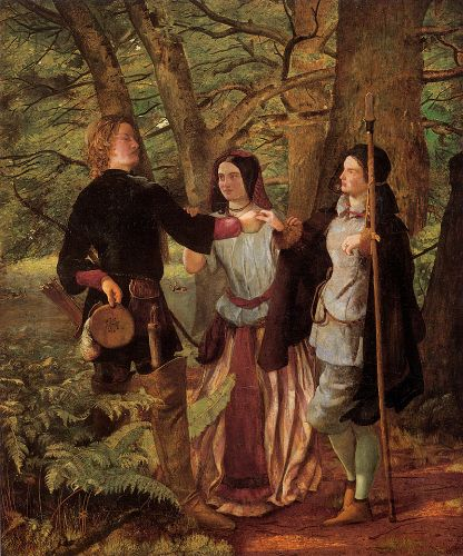The Mock Marriage of Orlando and Rosalin by Walter Howell Deverell