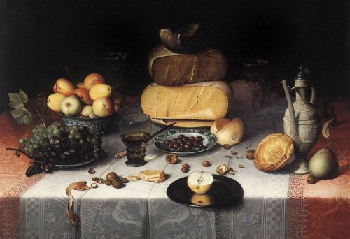 Still-Life with Cheeses by Floris Claesz van Dijck