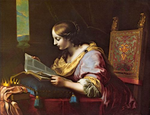 St Catherine Reading a Book by Carlo Dolci